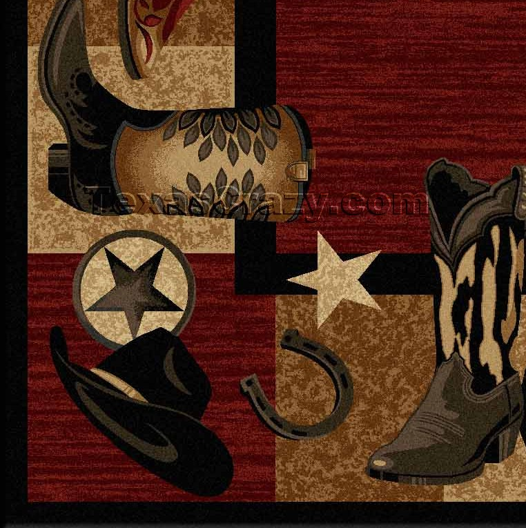 Buy Red Western Boots 5 X 8 Area Rug Texas Rugs Store