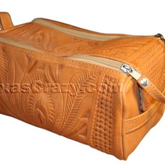 320 natural tooled leather utility kit