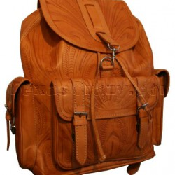 784 Extra Large Tooled Leather Backpack