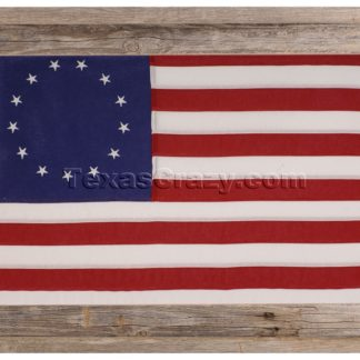 Betsy Ross First American Flag Framed Light Barnwood