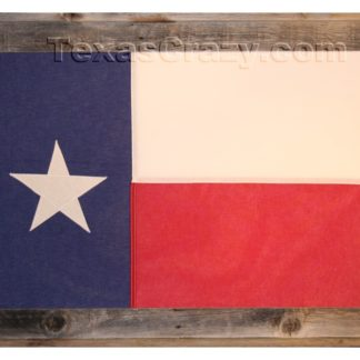 Large Texas Flag Framed in Light Barnwood