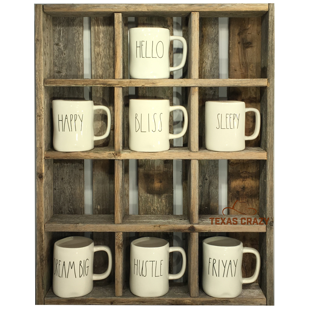 Oversize Coffee Mug Storage Cubbies Fit